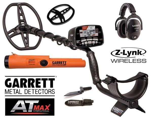 Garrett AT-MAX Pro mit Pro-Pointer und Funkkophörer+Edge Digger