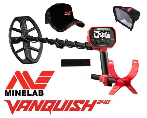 Minelab Vanquish 340 Metalldetektor mit gratis Zubehör