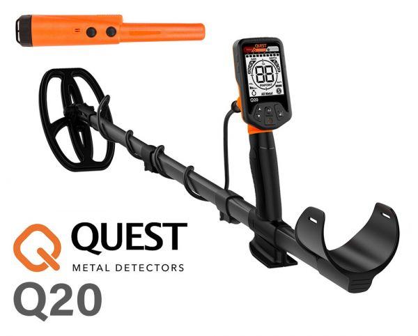 Quest Q20 + Xpointer Angebot bei Detektormarkt