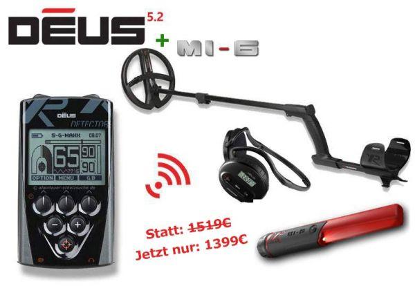 XP Deus X35 RC 22 WS4 + MI-6 Angebot