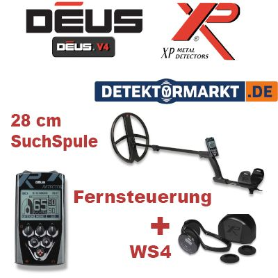 XP DEUS X35 28 RC WS4 V5.2 Komplett-Set